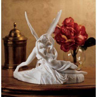 Design Toscano 13 in. Cupid and Psyche Statue   Sculptures & Figurines