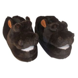 Comfy Feet Hippo Animal Feet Slippers   Mens Slippers