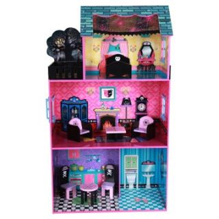 Teamson Design Haunted Doll House with Furniture   Toy Dollhouses