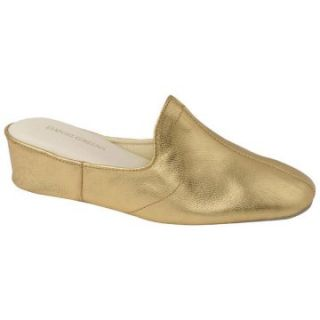 Glamour Womens Scuff Slippers by Daniel Green   Gold   Womens Slippers