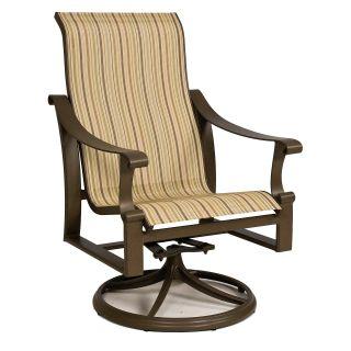Homecrest Patio High Back Swivel Rocker Chair Footstool