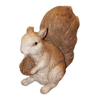Sammy Squirrel Cast Resin Garden Statue   Garden Statues
