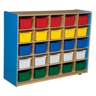 Wood Designs 25 Tray Colors Storage   Daycare Storage