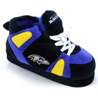 Comfy Feet NFL Sneaker Boot Slippers   Baltimore Ravens   Mens Slippers