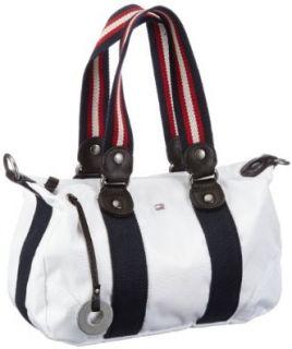 Tommy Hilfiger AMANDA SMALL DUFFLE BW56919353, Damen Henkeltaschen, Rot (RED ORANGE 646), 29x20x12 cm (B x H x T) Schuhe & Handtaschen