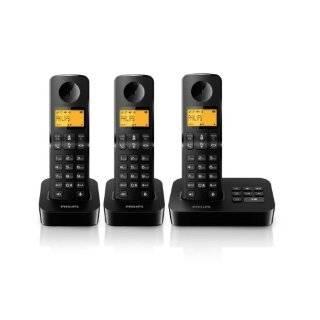 Philips D2053B/38 Schnurloses Telefon mit 3 Mobilteilen Elektronik