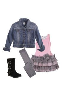 Isobella & Chloe Dress & Tucker + Tate Denim Jacket (Toddler)
