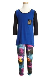 Soprano Tunic & Dirttee Hollywood Print Leggings (Big Girls)