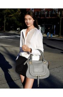 Chloe Leather Bag, The Kooples Blouse & T by Alexander Wang Shorts