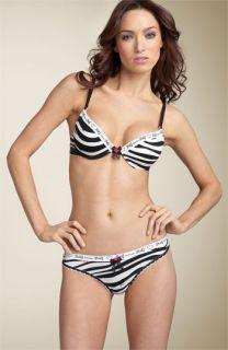 D&G Intimates Zebra Print Bra & Panties