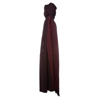 Fendi Burgundy Micro Zucchino Dual Colored Wool Scarf Fendi Designer Scarves & Wraps
