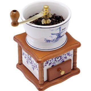 Retro Kaffeem�hle aus Holz mechanisch Keramik Antik Nostalgie Alte 3 K�rnungen Küche & Haushalt
