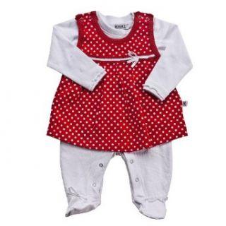 Kanz Baby   M�dchen Babybekleidung/ Strampler, gepunktet 1112651, Gr. 56, Rot (tango red): Bekleidung