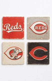Cincinnati Reds Marble Coasters (Set of 4)