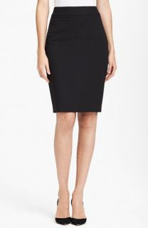 St. John Collection Crepe Marocain Pencil Skirt with Liquid Satin Bow