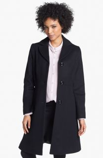 Kristen Blake Fit & Flare Wool Blend Coat (Petite) ( Exclusive)