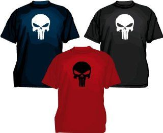 The Punisher Skull Logo T Shirt, Comic: Sport & Freizeit