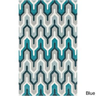 Hand tufted Contemporary Geometric Area Rug (8' x 11') 7x9   10x14 Rugs