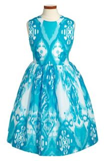 Oscar de la Renta Ikat Print Party Dress (Toddler Girls, Little Girls & Big Girls)