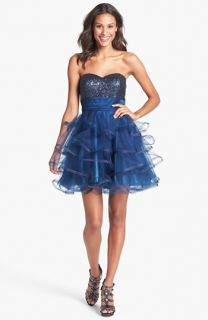 Sean Collection Embellished Tiered Fit & Flare Dress