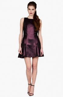 Phoebe by Kay Unger Embellished Back Metallic Jacquard Fit & Flare Dress