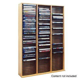 Cornelius Regal bis zu 135 Blu Ray/DVD oder Videospiel   106.5 x 72.5 x 17 cm   Eiche finish: Küche & Haushalt