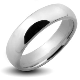 Tungsten Carbide Polished Classic Wedding Band Men's Rings