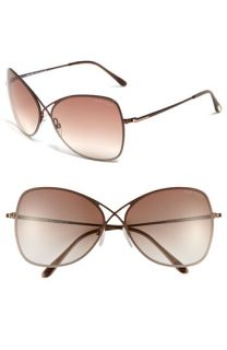 Tom Ford 63mm Oversized Sunglasses