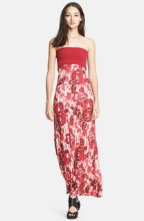 Jean Paul Gaultier Rose Print Convertible Maxi Dress