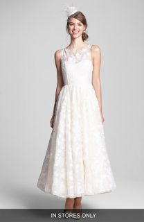 Hayley Paige Hepburn Floral Appliqué Silk Organza Dress (In Stores Only)