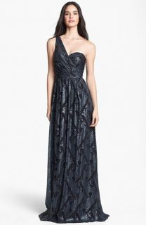 Erin by Erin Fetherston Catalina Metallic One Shoulder Gown
