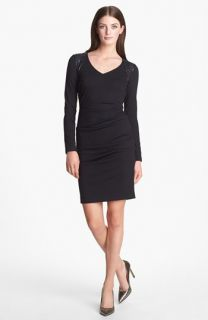 Nicole Miller Embellished Ponte Knit Sheath Dress