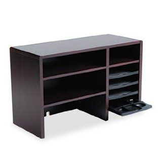 Desktop Organizer, Nine Sections, 29 x 12 x 18, Mahogany by SAFCO (Catalog Category: Paper, Pens & Desk Supplies / Desk Accessories): Office Products