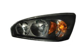2004 2007 Chevy Malibu/malibu Maxx Headlights Black Amber: Automotive