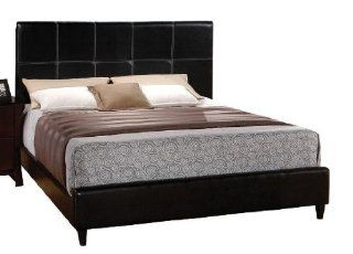 Acme 20150K Ridge Black Leather Queen Size Platform Bed: Home & Kitchen
