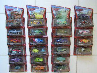 Disney Pixar Cars 2 Set of 23 Different Mattel Vehicles in 22 packages. 155 Scale   Includes (1) Race Team Mater, (2) Finn McMissile, (3) Lightning McQueen, (4) Francesco Bernoulli, (5) Holley Shiftwell, (6) Professor Z, (7) Jeff Gorvette, (8) Carla Velos