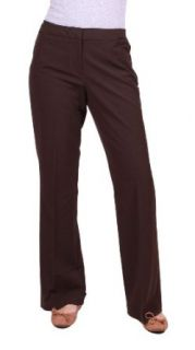 Nicole Miller New York Perfect Fit Easy Care Dress Pant (6, Dark Chocolate): Clothing