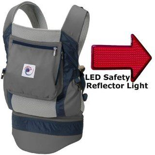 Ergo Baby BCP03405 Performance Carrier With a LED Safety Reflector Light   Grey: Baby