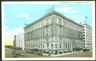 The Claypool Hotel Indianapolis IN postcard 191?: Collectibles & Fine Art