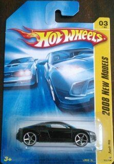 2008 Hot Wheels New Models Audi R8 Black With OH5SP Wheel Variant #003/196: Toys & Games