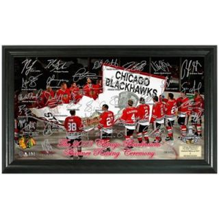 Chicago Blackhawks 2013 Stanley Cup Champions Banner Raising Ceremony Signature Rink