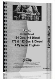Ford Eng 192 Engine GandD (FO# 40540400) Fits Skid Steers, Windrowers, other Ind Appl 4 Cyl Service Manual: Jensales Ag Products: Books