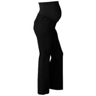 Oh Baby by Motherhood Corduroy Mid Belly Pants (Medium 8 10, Black): Clothing