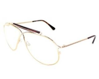 Tom Ford Sunglasses TF 193 Magnus 28A Metal Gold Very light yellow: Clothing