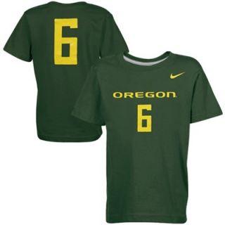 Nike Oregon Ducks #6 Youth Replica Player T Shirt   Green