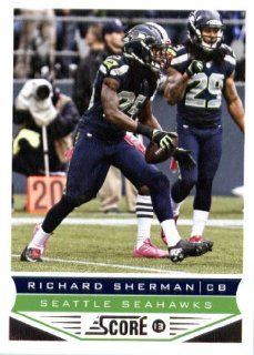 2013 Score NFL Football Trading Card # 199 Richard Sherman Seattle Seahawks: Sports Collectibles