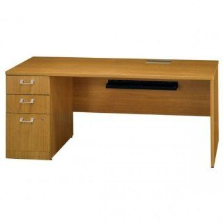 Quantum Modern Cherry Left Credenza: Office Products