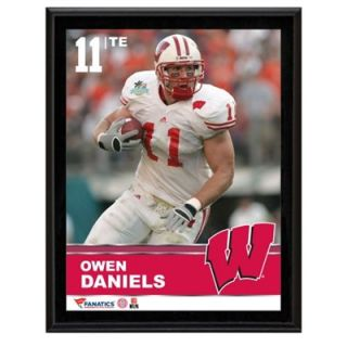 Owen Daniels Wisconsin Badgers Sublimated 10.5 x 13 Plaque