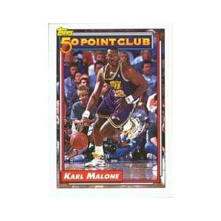 1992 93 Topps #199 Karl Malone 50 Point Club : Sports Related Trading Cards : Sports & Outdoors