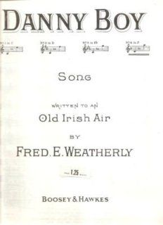 Sheet Music Danny Boy Fred E Weatherly 195: Everything Else